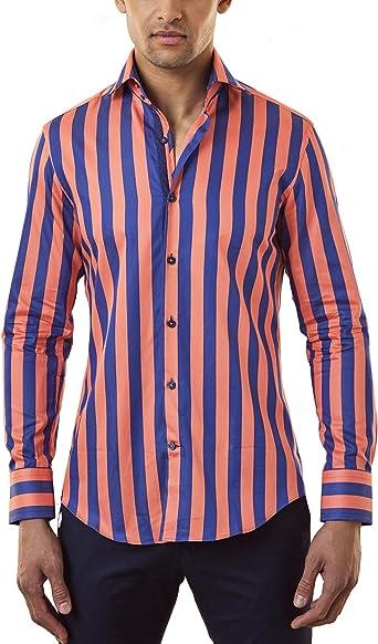 Hawes & Curtis Camisa Formal a Rayas Bengala Azul Marino y ...