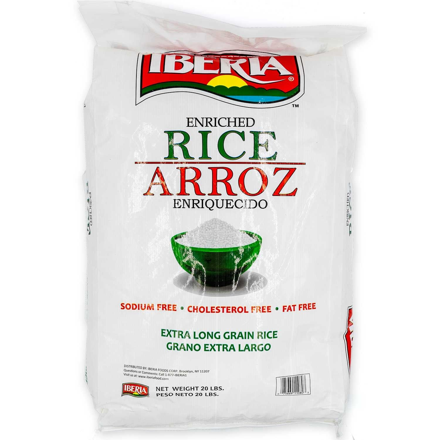 Iberia Enriched Extra Long Grain White Rice 20 lbs
