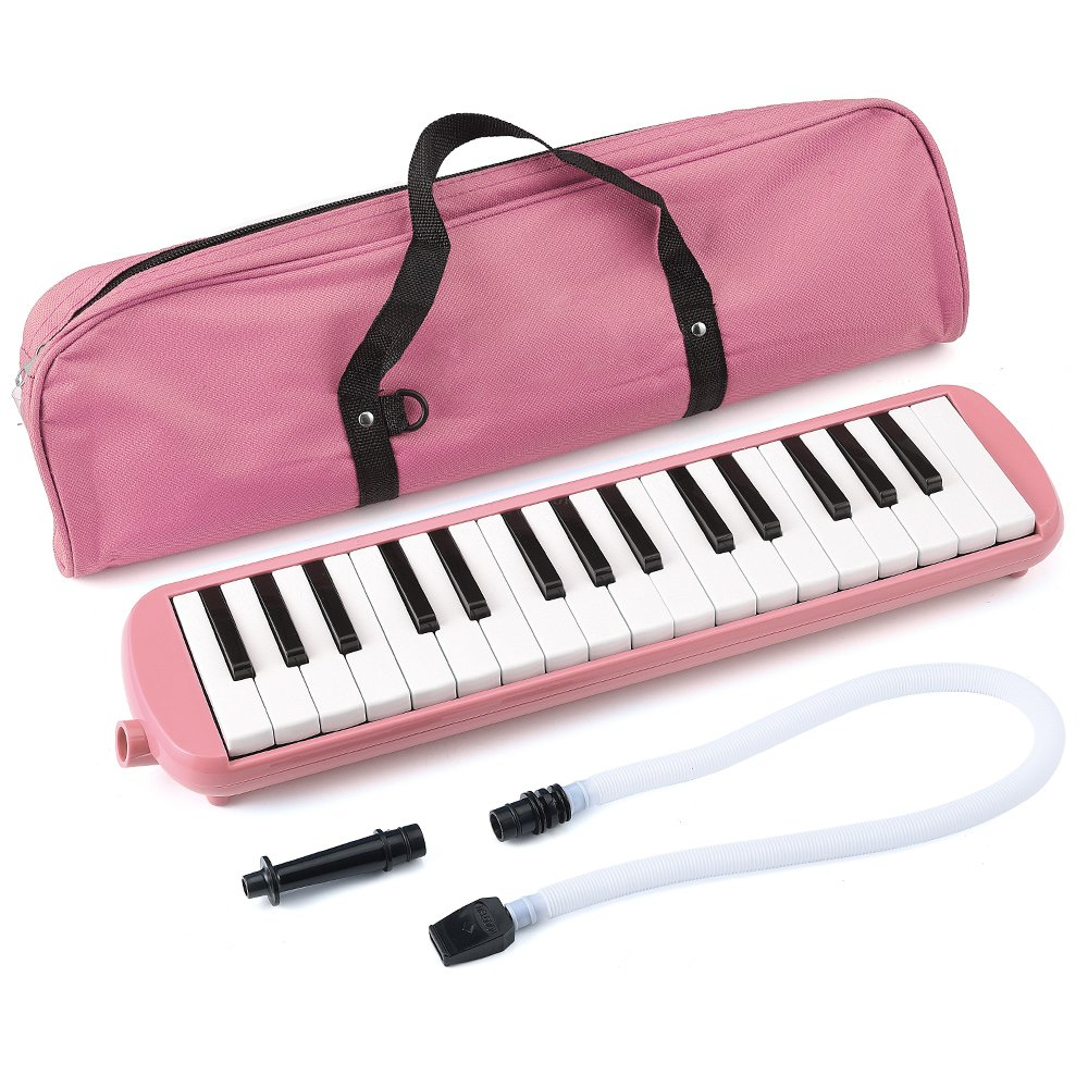 32 Key Melodica, Irich Piano Style Keyboard Instrument with Carry Bag - Music Education & Music Enlightenment for Students, Children, Adults, Piano Beginners (Pink) 4334322807
