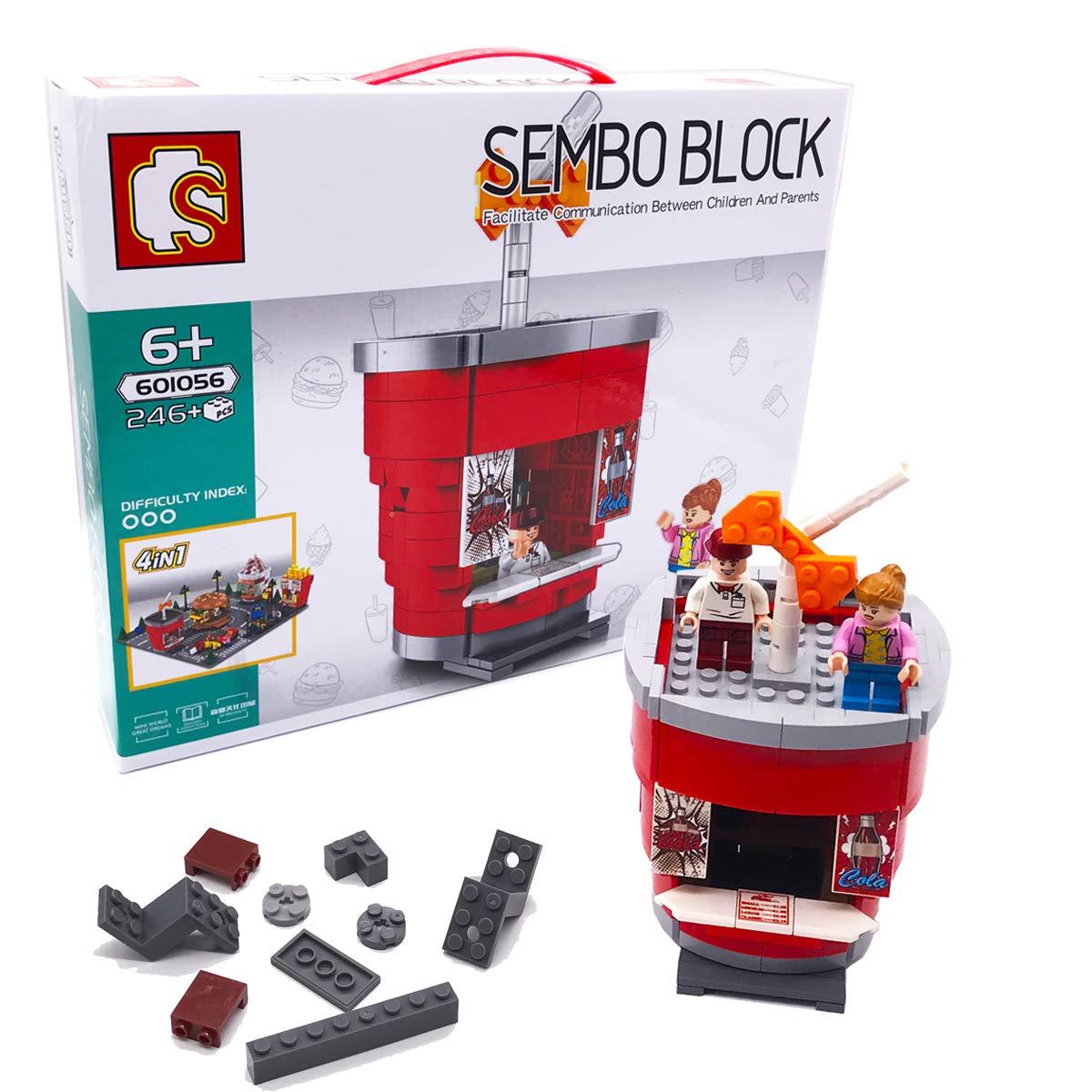 Mini Cola Shop Building Kit, Street View Series DIY Toy Store (246pcs) Christmas Birthday Gift