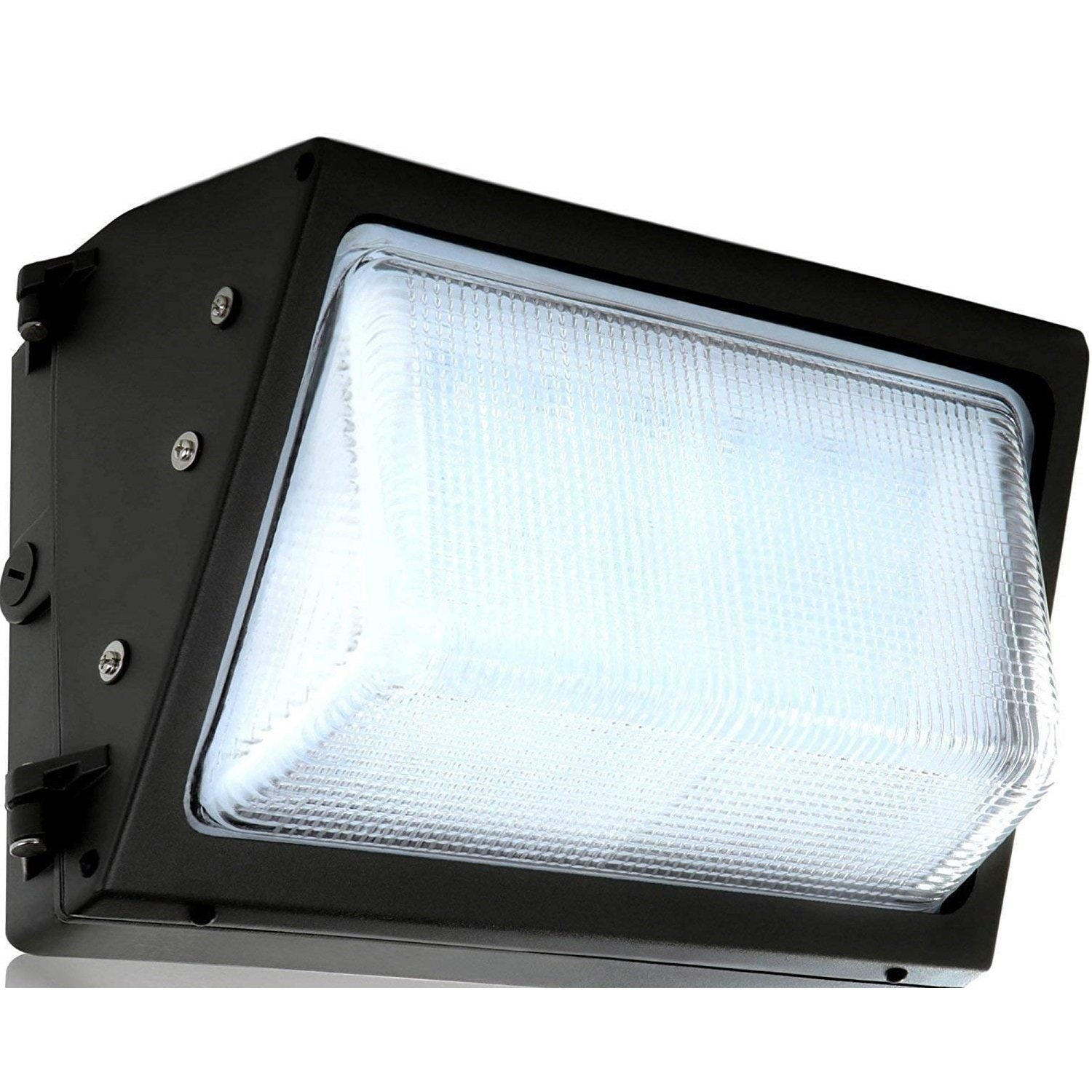 LED Wall-Pack Photo Cell - 40W 5000K Commercial Outdoor Light Fixture ( Out-Door Dusk To Dawn Sensor Security Porch Lighting For Industrial Out-Side photocell )