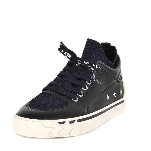 Ash Nippy Cuero Zapatillas, Mujer - Azul Marino/Negro 40 Negro/Azul: Amazon.es: Zapatos y complementos