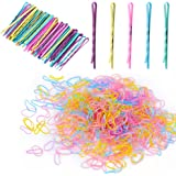 2500PCS Color Elastic Hair Bands with 50 Count Bobby Pins Set,with Storage Box,Hair Styling Pins,Mini Rubber Bands Soft Elast