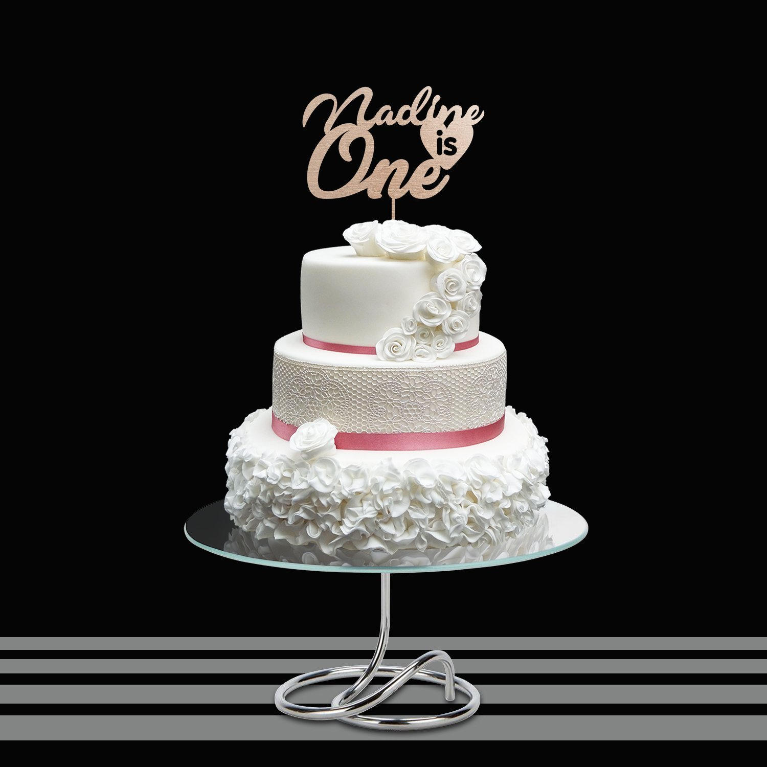 PERSONALIZED FIRST BIRTHDAY Cake Topper Custom Name