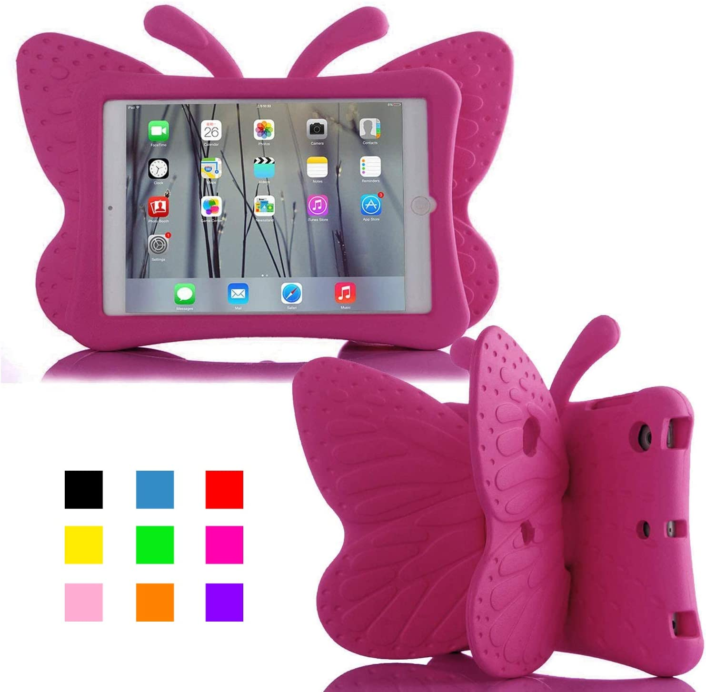 iPad 10.2 Case, ER CHEN Kids Light Weight Cute Butterfly Design Shockproof EVA Foam Case for iPad 7th Gen 10.2