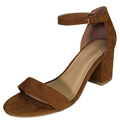 Amazon.com | BAMBOO Women&39s Block Heel Sandal With Ankle Strap