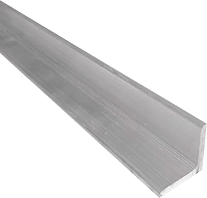 """T6511 Mill Stock 1//8/"""" Thick 2/"""" x 2/"""" Aluminum Angle 6061 24/"""" Length"""