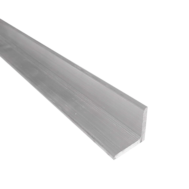 "1"" x 1"" Aluminum Angle 6061, 12"" Length, T6511 Mill Stock, 1/8"" Thick 71ZoZ7POzAL"