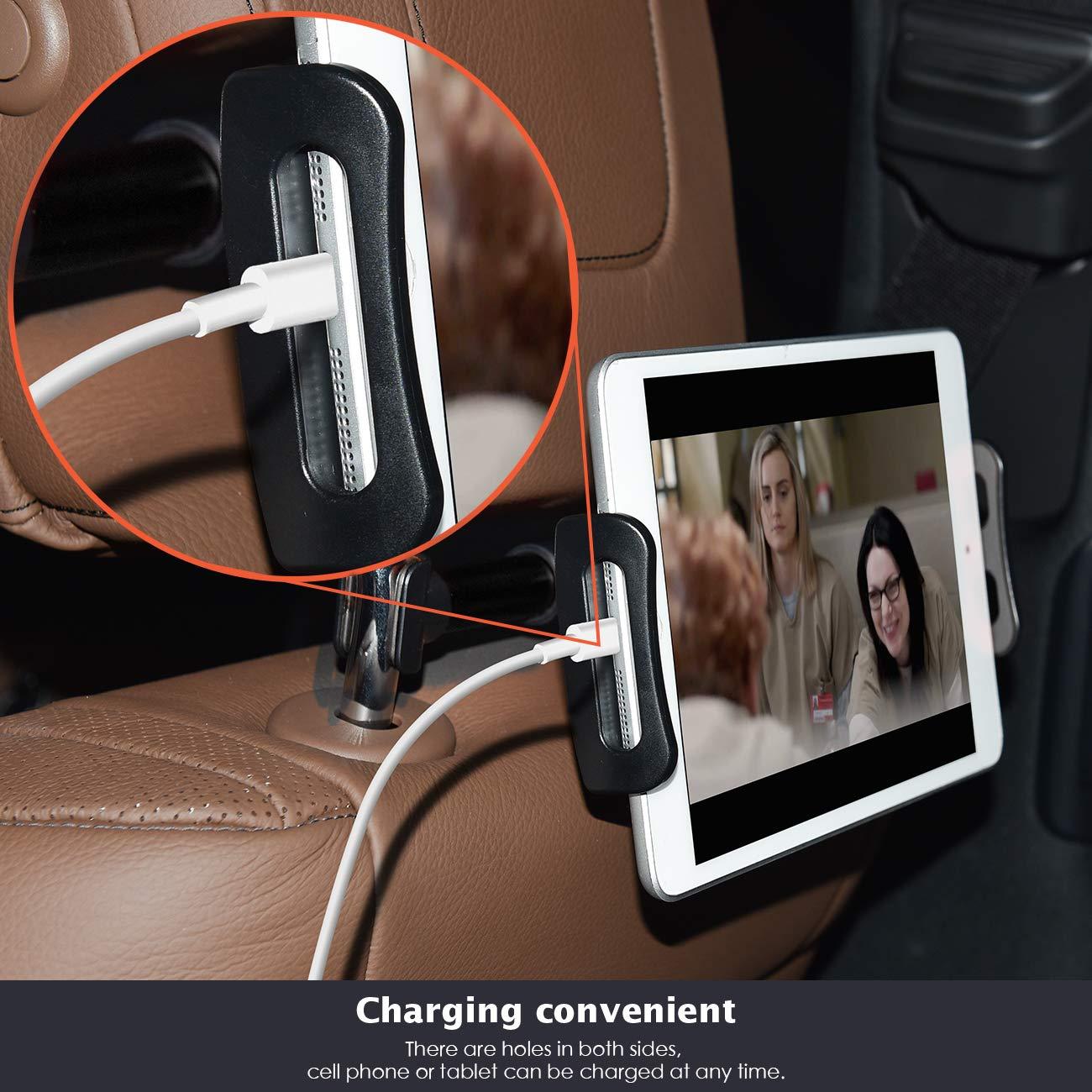 Pad Air Mini 2 3 4 Eono Essentials Supporto Auto Poggiatesta per Tablet Samsung Tab Nero Supporto Tablet : Universale Supporto per 5~11 Tablet Come Pad 2018 Pro 9.7 Phone 10.5 Altri Tablets