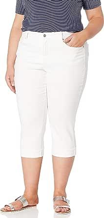 NYDJ Womens Plus Size Marilyn Crop Cuff Jean Jeans