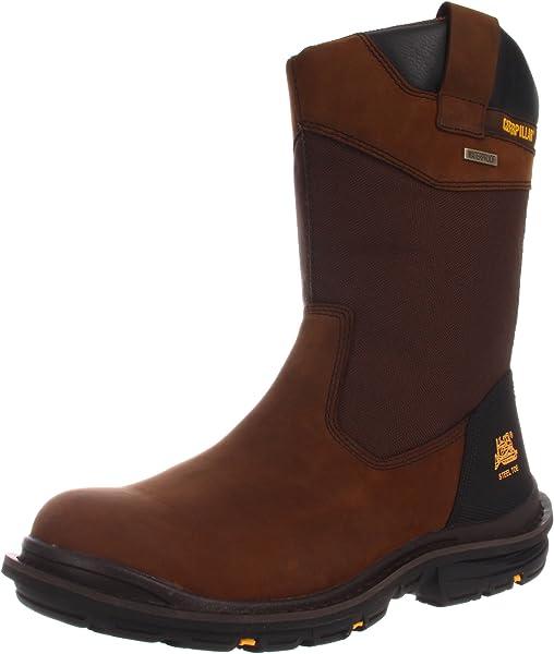 4d543b916e22 Amazon.com  Caterpillar Men s Grist Waterproof Steel Toe Work Boot ...