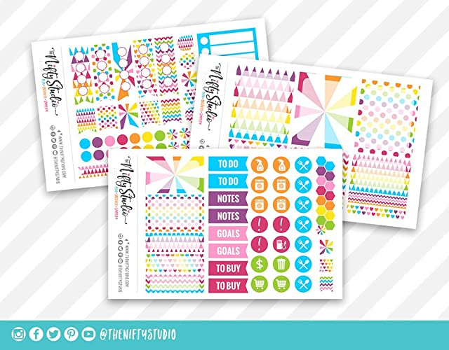 Amazon.com: Weekly Planning Stickers | Rainbow Planner ...
