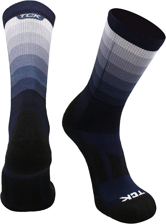 TCK Fade Sublimated Basketball Socks Crew Length Football Socks : Clothing