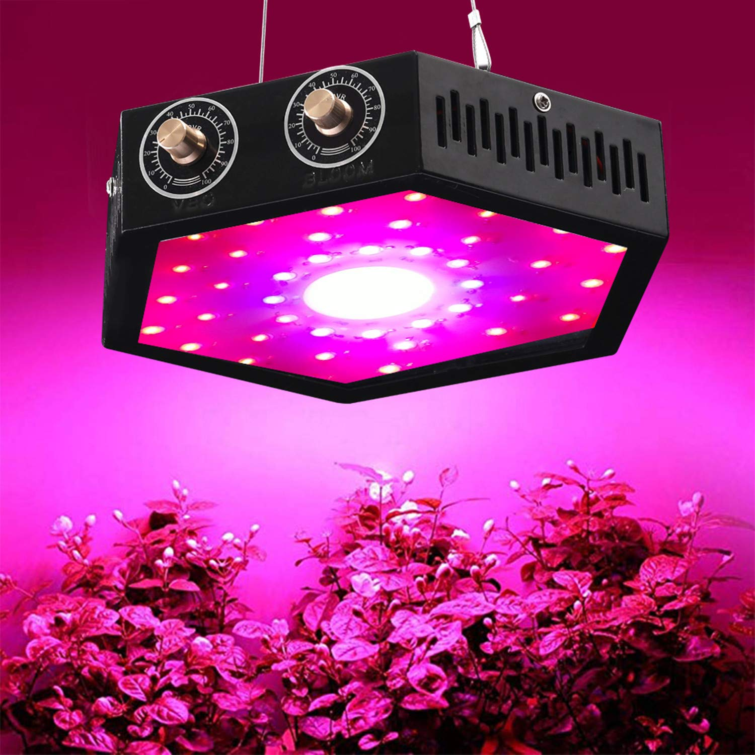 1000W COB LED Grow Light for Indoor Plant, Adjustable Full Spectrum Plant Light Growing Lamps with Veg and Bloom for Basement Planting. by EONPOW (Image #1)