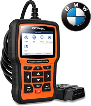 Amazon Com Foxwell Nt510 Elite Full Systems Scanner For Bmw Automotive Obd2 Code Reader Bidirectional Diagnostic Scan Tool With Srs Epb Sas Tps Active Test Oil Reset Battery Registration Automotive