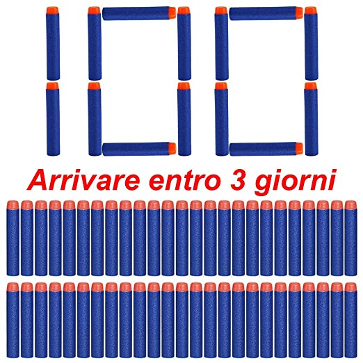 36 opinioni per VOROSY@Ricarica 100 Dardi Schiuma 7,2cm per gun Nerf N-Strike Elite Series