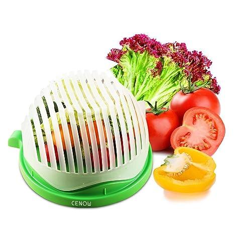 Cortador de ensalada de plástico ABS apto para cortar verduras, frutas, carne en 60