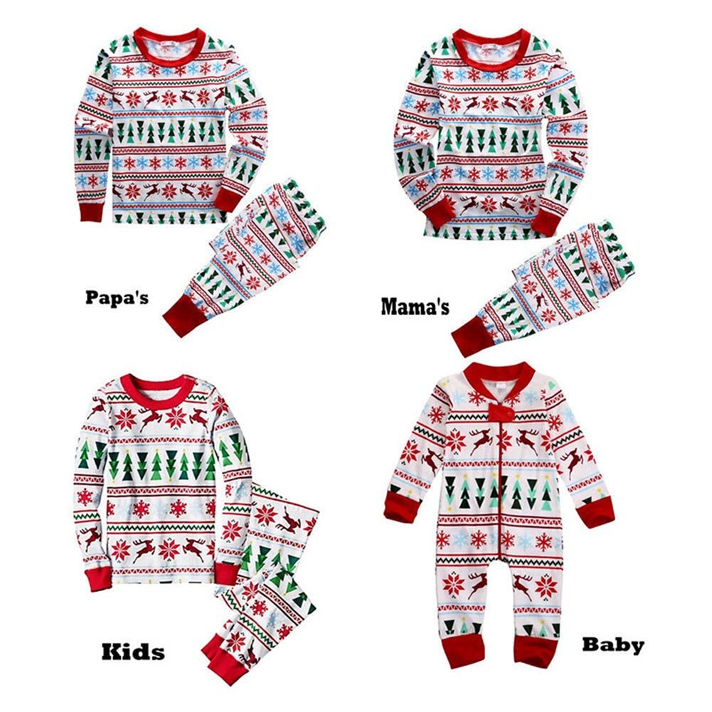 Pyjamas Pyjamas famille de Noël vêtements assortis ensemble tenue Jumper papa deux pièces maman enfants vêtements de bébé par Shiningup
