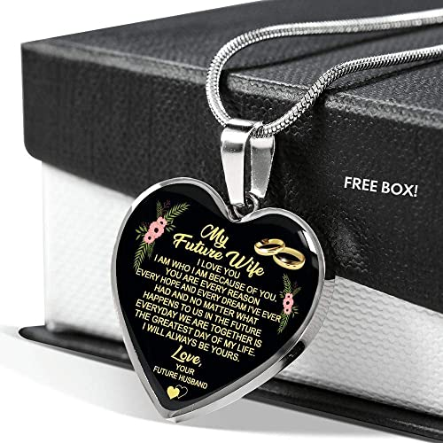 Amazon.com: ThisYear My Future Wife Necklace Chain I Love ...