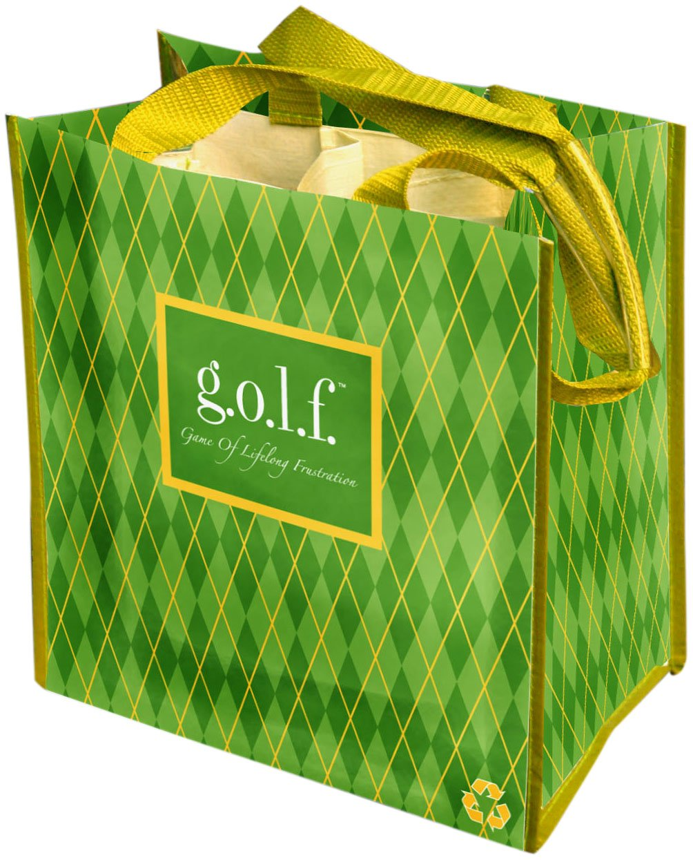 Fine Whines Party To Go Tote (100% Recycled Material), g.o.l.f. (Game of Lifelong Frustration)