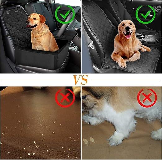 Hunde Autositz Zaeel Hund Autositz Wasserdichtes Breathable Haustier Autositz Mit Sicherheits Leine Tragbare Reise Auto Fördermaschine Tasche Für Haustier 18 18 22 Inch Auto