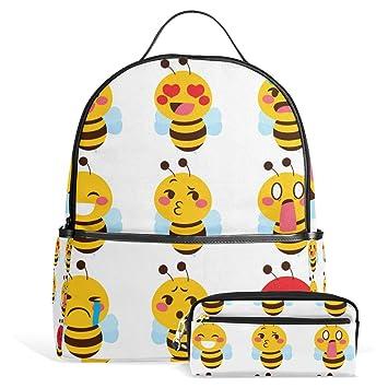 U vida feliz Emoji miel las abejas bolso de escuela Mochila ...