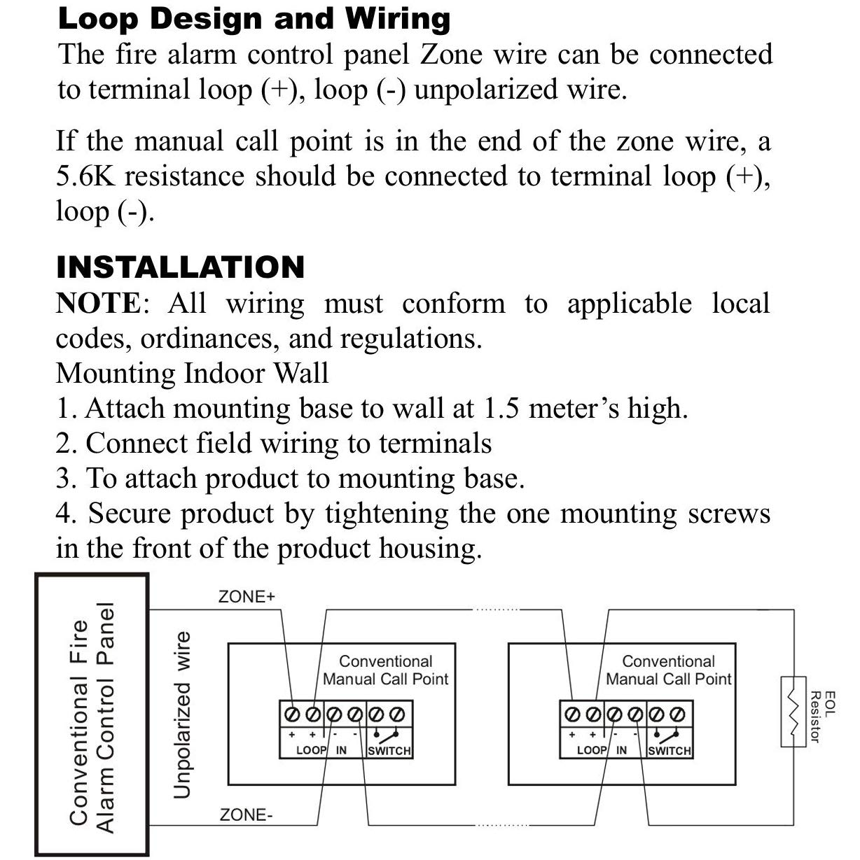 Uhppote Wired 9 28vdc Conventional Manual Call Point Signaling Line Circuit Wiring Firelite Alarms Fire Reset Push In Pull Down Emergency Alarm Station Dual Action Home Improvement
