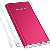 POWERADD Versión Mejorada Pilot 2GS Power Bank 10000mAh (Doble Puerto de Salida, 3.1A+3.1A) Cargador Portátil Batería Externa para iPhone, iPad, Huawei, Samsung y Más - Rojo