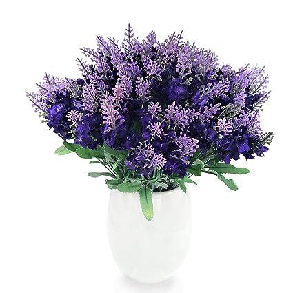 Amazon conjugal bliss artificial lavender silk flower 10 conjugal bliss artificial lavender silk flower 10 bouquet organic purple lavender fake flowers for wedding mightylinksfo