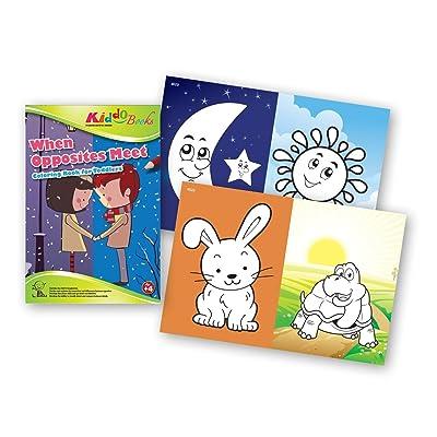 QuackDuck libro para colorear When Opposites Meet - Cuando los contrarios se encuentran - Coloring Booklet - Libro para colorear con fondos de color - Bloc para niños a partir de 4 años: Instrumentos musicales
