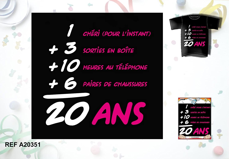 Tee Shirt Humoristique Femme Anniversaire 20 Ans Amazonfr
