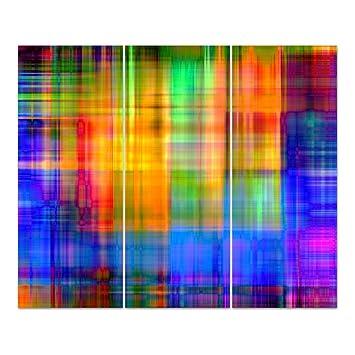 Dekoglas Glasbild Regenbogen Acrylglas Bild Kuche Wandbild Flur