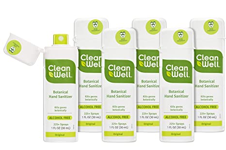 Cleanwell Botanical Hand Sanitizer Spray Citrus Thyme 1 Fl Oz 1