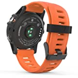 MoKo Accessories for Garmin Fenix 3, Sport Soft Silicone Replacement Watch Band for Garmin Fenix 3 / Fenix 3 HR / Fenix 5X Smart Watch - ORANGE