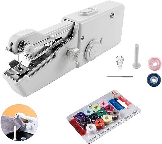 QILICZ - Mini máquina de Coser portátil de Mano + 14 bobinas de ...