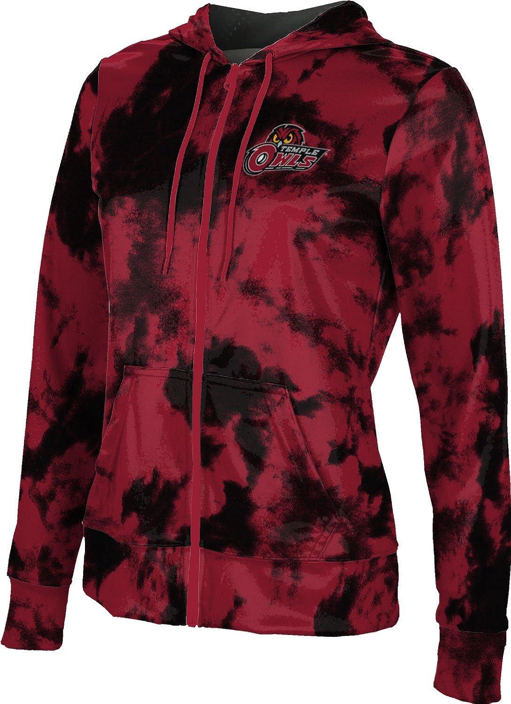 School Spirit Sweatshirt Grunge ProSphere Temple University Girls Zipper Hoodie