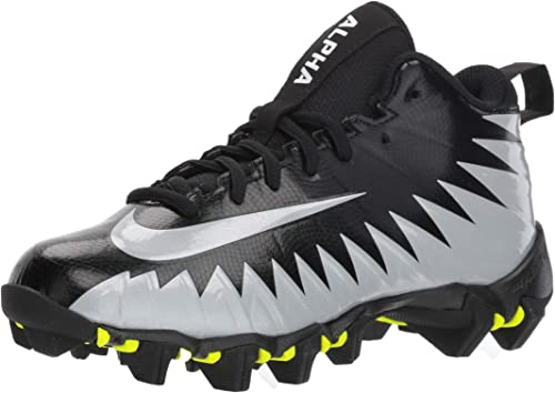 high quality nike shark football cleats black