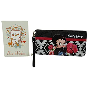 Betty Boop Tribal Billetero Largo Mujer Nina Chica Monedero ...