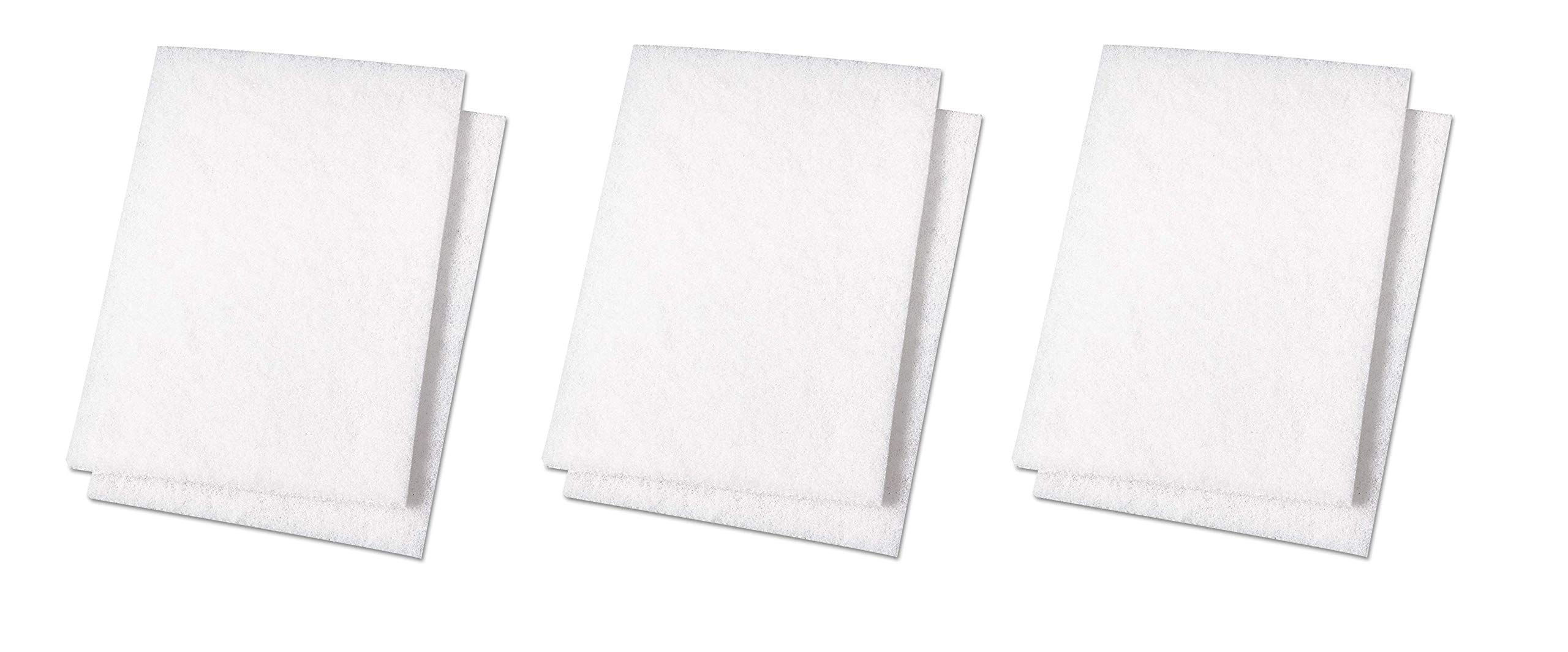 Premiere Pads PAD 198 Light Duty Scouring Pad, 9'' Length by 6'' Width, White (Case of 20) (3-Pack)