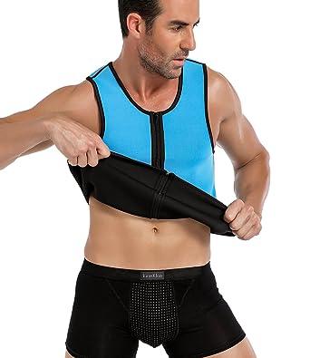 268a034a2b3 SEXYWG Neoprene Weight Loss Sauna Sweat Vest Men s Sport Sleeveless  Shapewear for losing weight - -