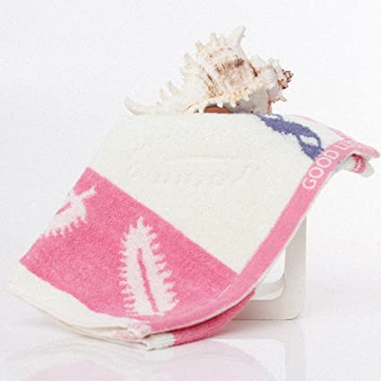 Lictory 1pcs Feather Pattern jacquard Soft Face Towel Cotton Hair Hand Bathroom Towels badlaken toalla Toallas