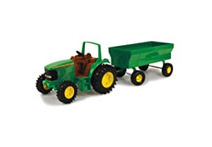 "John Deere 8"" Tractor with Flarebox Wagon Set by ERTL 