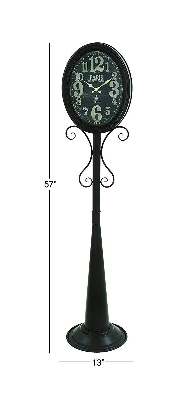 Deco 79 92245 Metal Floor Clock, 13