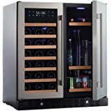 N'FINITY PRO HDX by Wine Enthusiast Wine & Beverage Center – Holds 90 Cans & 35 Wine Bottles – Freestanding or Built-In Wine