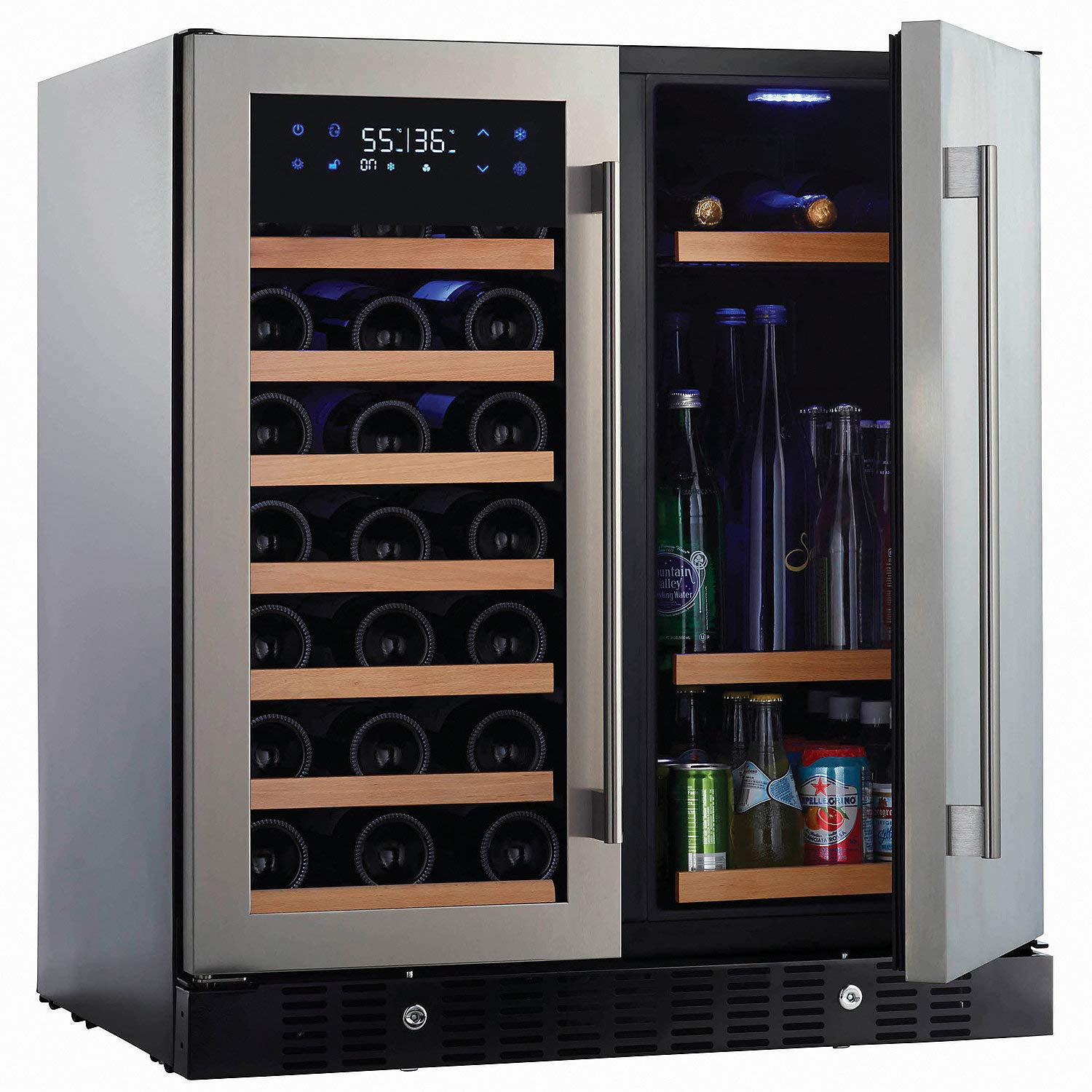 N'FINITY PRO HDX by Wine Enthusiast Wine & Beverage Center - Holds 90 Cans & 35 Wine Bottles - Freestanding or Built-In Wine Refrigerator by N FINITY