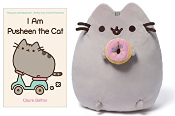 Attractive I Am Pusheen The Cat Book, Pusheen Plush With Doughnut Bundle