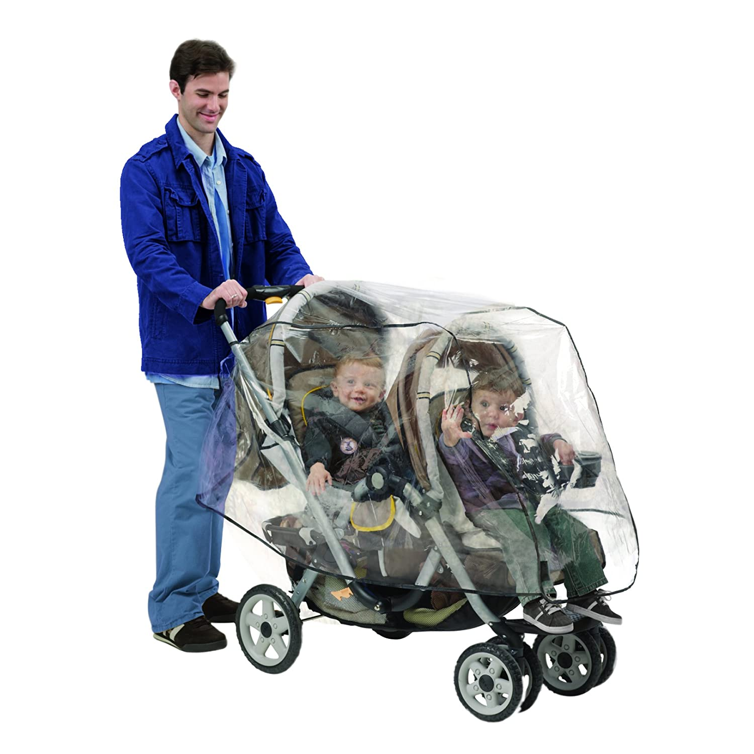 NUBY Double Stroller Rain Cover, Clear Vinyl 120014
