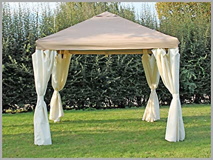 Carpa 3 x 3 m Sahara marrón fiesta 3 x 3 venta tienda impermeable: Amazon.es: Jardín