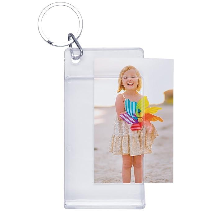 Amazon.com: Estándar Slip-In Photo Keychains: Home & Kitchen