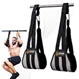 DMoose Fitness Hanging Ab Straps for Abdominal Muscle Building and Core Strength Training, Padded Pull Up Straps for Ab…